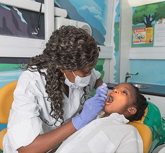 Oral healthcare on mobile clinic