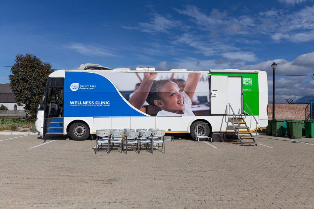 Western Cape Government wellness clinic visiting school