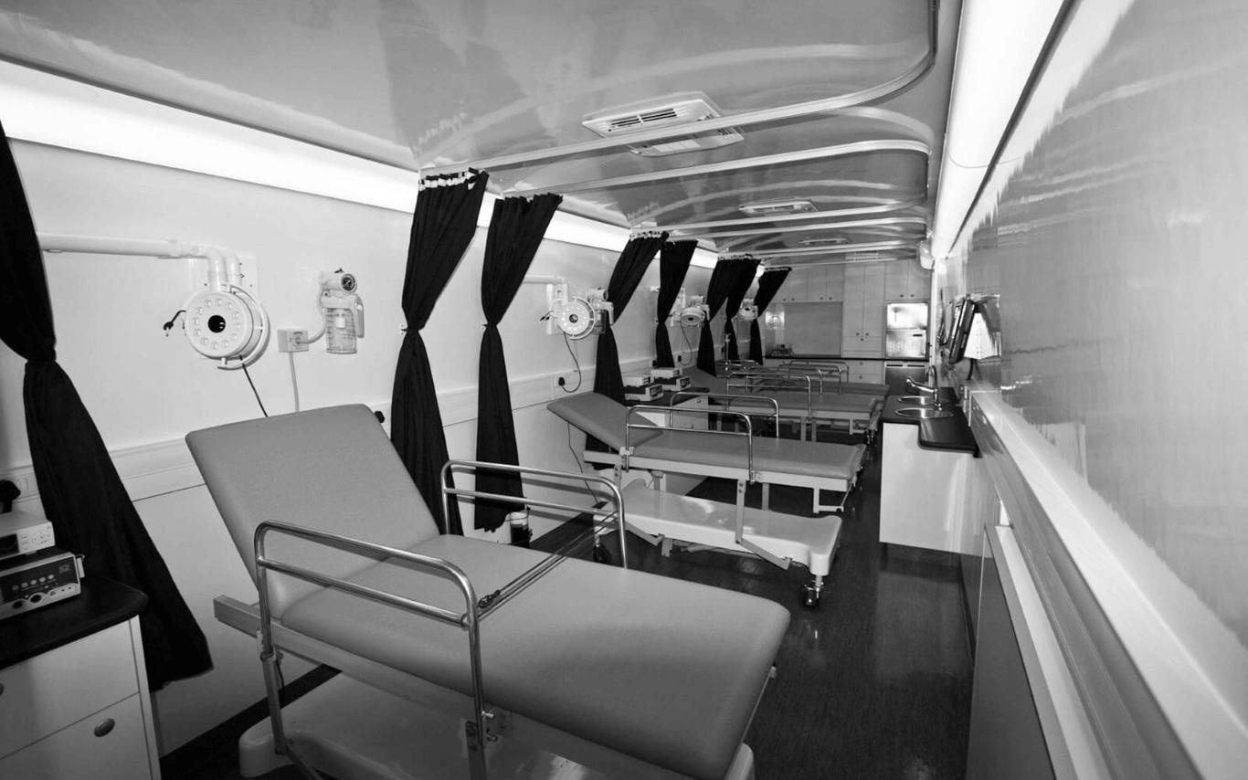 Circumcison mobile clinic interior